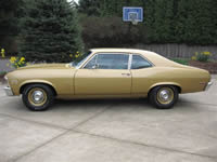 1970 Gold Chevy Nova