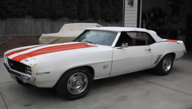 1969 Chevy Camaro Pace Car